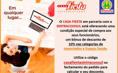Casa Fiesta em parceria com o Sintracoosul