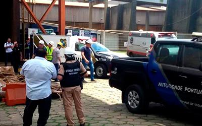Acidente no Porto de Paranaguá